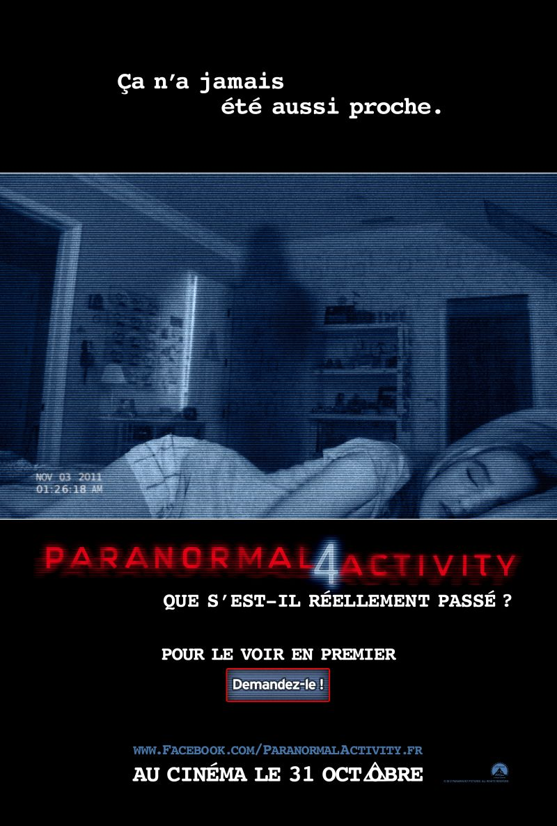 affiche film Paranormal Activity 4