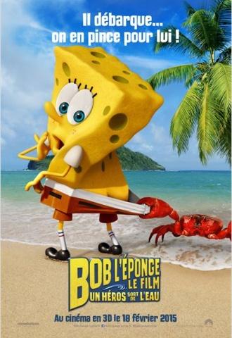 Bob l'éponge le film : Un héros sort de l'eau  - Affiche